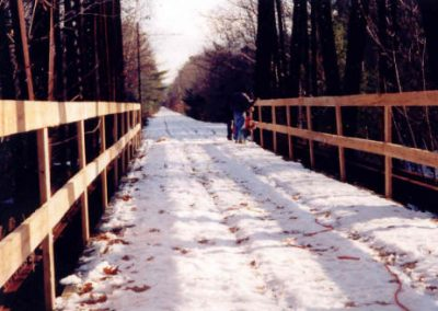 First Decking of Rail Bed Bridges c. 1998