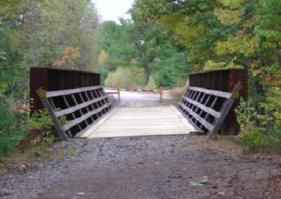 Newly decked bridge in October 2005